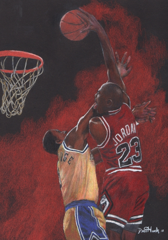 Michael Jordan by DHWallArtist